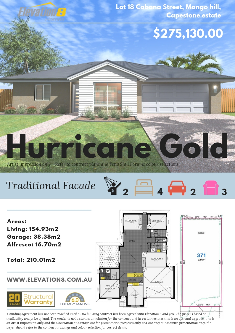 Hurricane Gold - Traditional -Brochure